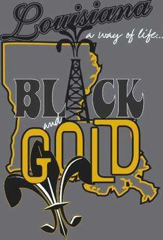 BLACK and GOLD Louisiana