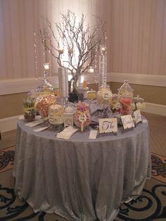 Candy bar at wedding!!!! LOVE!!!