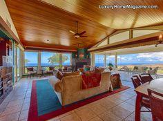 Five acre estate with ocean views #luxury #home #livingroom #design