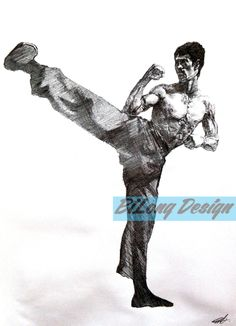Bruce Lee Jeet Kune Do Sketching