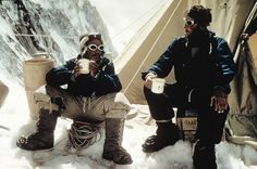 Sir Edmund Hillary & Tenzing Norgay drinking a cup of tea after scaling Mount Everest #LikeABoss