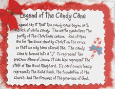 Candy cane poem printable the legend of the candy cane