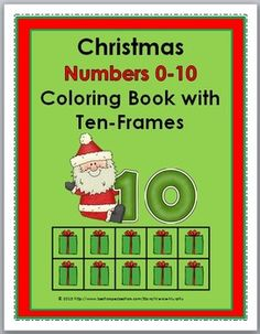 Christmas Numbers 0-10 Coloring Book with Ten-Frames
