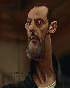 Caricatura de Jean Reno.