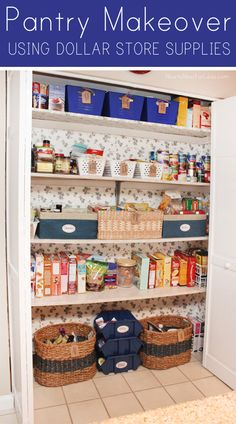 Budget pantry makeover using Dollar Store supplies!