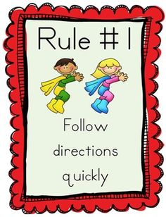 Whole Brain Teaching Rules Posters - FREE