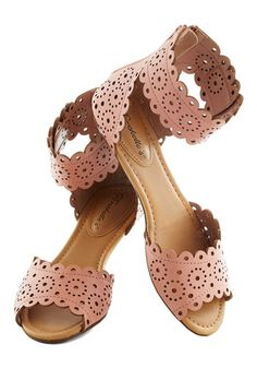 cute blush colored sandals