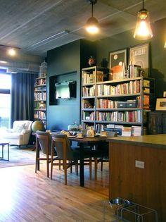 house tours, book shelv, wall shelves, bookshelv, hous tour