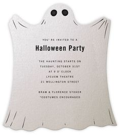 invitation cards, ghost halloween