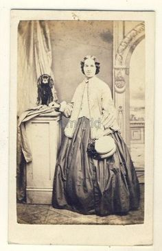 Lady with dog CDV Gibson of Scarborough