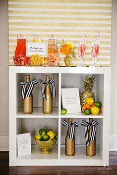 #bridal-shower, #party-decor  Photography: Lindsay Hite/READYLUCK - www.readyluck.com  Read More: http://www.stylemepretty.com/living/2014/06/06/glittery-bridal-shower/