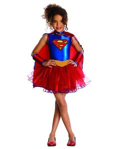 Supergirl Tutu Girls Costume