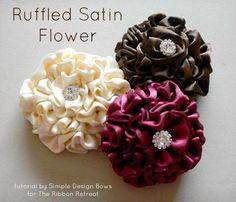 Ruffled Satin Flower Tutorial
