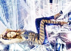 Blue Sparkling Catsuit with Embellishments worn By J Lo. Buy your Catsuit for dance from DCUK Dance Clothes.