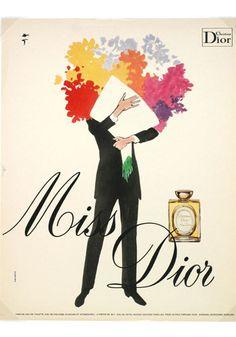 Awesome vintage Dior ad by Gruau.