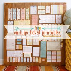 a life well-lived: free vintage tag & ticket printables | the handmade home
