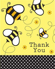 Mommy to BEE Baby Shower Thank You Cards