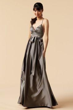 gorgeous steel gray dress for a #ZTA Zeta Tau Alpha