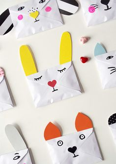 DIY Animal Envelopes - so cute to encourage writing letters
