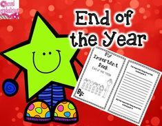 End of Year Activity - My Important Book - This is a great activity for the last week or two of school. Kids can keep it as a keepsake to remember the important things from their school year. $