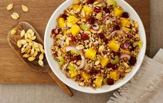 Consider this instead of stuffing. Autumn Kashi® Pilaf Salad with White Pumpkin and Cranberries Recipe. #kashibetterrecipes