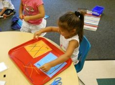 "Wikki stick letters.  Great activity to use with letter ""W""."