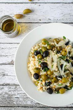 Olive couscous  salad  http://kitchenconfidante.com/