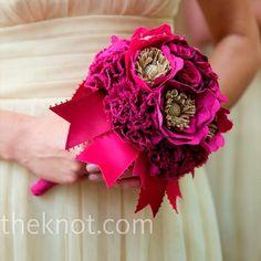 Fuchsia fabric bouquet