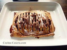 Celosía de Manzana. Pastel sencillo de hojaldre | Recetas de Cocina Casera