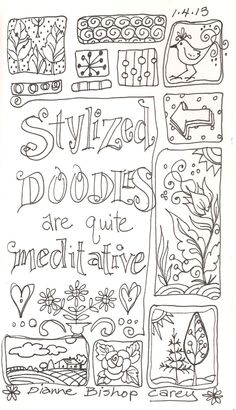 Art Beneath the Cottonwoods: Doodle Pages: Black and White