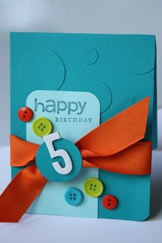 Happy Birthday card for a boy