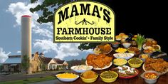 Mama's Farmhouse in Pigeon Forge  AMAZING FOOD! Well worth the price! We ate breakfast there and didn't eat again until dinner! #vacation #Pigeonforge