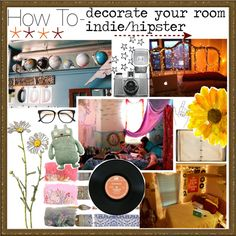 """""""How To Decorate Your Bedroom- Indie/Hipster"""" by the-hipster-tip-sisters ❤ liked on Polyvore"""