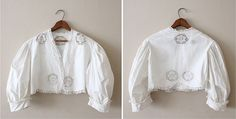 Victorian walking jacket. #white #victorian #jacket #lace