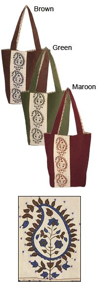 Paisley in Bloom Tote Bag at The Autism Site