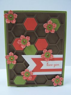 Stampin Up Handmade Greeting Card: Mother's Day Card, Floral Card, Happy Mother's Day, Mother's Birthday, I Love You, Daughter's Birthday