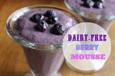 Dairy-Free Berry Mousse -- totally guilt-free and takes just 5 minutes to whip up in the blender! It's made with coconut milk and fresh berries, and sweetened with stevia.