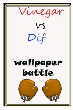 vinegar vs. DIF for wallpaper removal