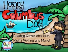 Columbus Day MEGA Pack! from Create abilities on TeachersNotebook.com -  (66 pages)  - This MEGA pack contains everything you need to help your class celebrate Columbus Day. There are math, writing, and reading activities that are tied to the common core.
