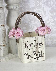 Flower girl basket - Wedding