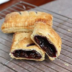 Classic, entirely delicious Cherry Hand Pies.  #food #cooking #meals #baking #desserts #pies #fruit #handpies #cherries #fruitpies