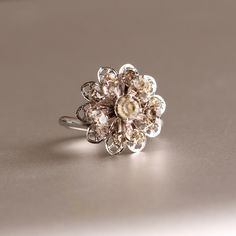Vintage Rhinestone Ring by Sarah Coventry