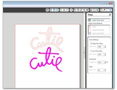 How to Make a Silhouette Cutting File from a Photoshop Brush
