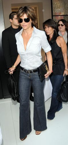 button down denim look lisa rinna