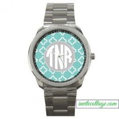 Monogrammed Watch - Circles - Select your colors!