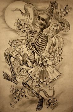 i already have a bad ass skeleton tattoo, but this one is awesome! Rose Tattoo, Tattoo Studio