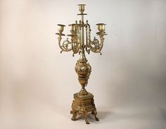 Living Room-  French Italian Gold Dore Ormolu Candelabra by janlewin on Etsy, $150.00