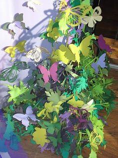 more laser cut paper butterflies