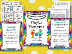 Pronoun Freebie great for centers