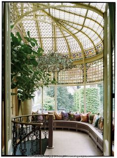Solarium with beautiful chandelier--and I love the fact there are stairs.